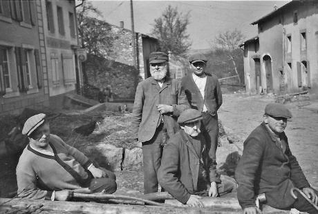 Blick auf die Dorfstr v 80 Jahren