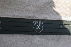 in der Muehle verbauter Stein mit Wappen