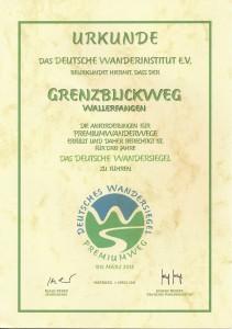Urkunde Pre-Weg